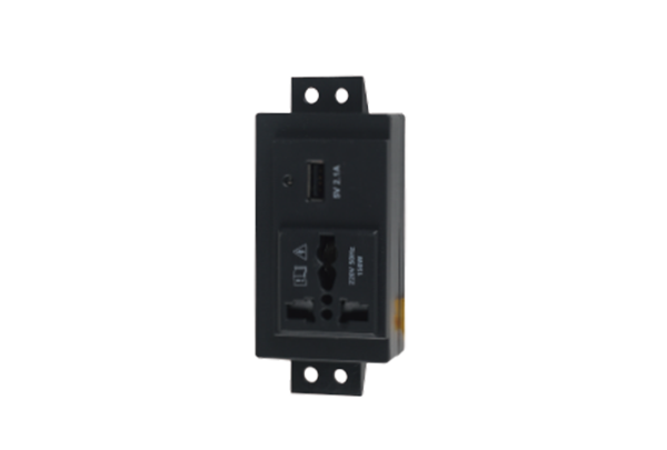 Universal AC socket and 2.1A USB